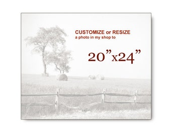 """Resize or Customize A Photograph in my shop to 20""""x24"""""""