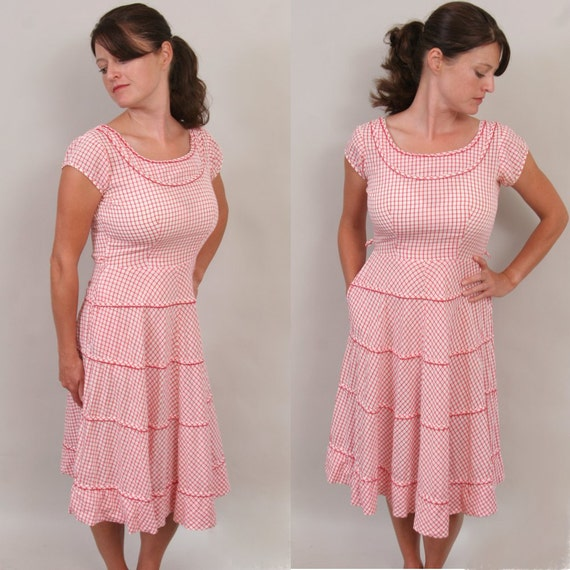 SALE 1950's country sweetheart dress