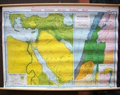 Ancient Orient and Palestine Before the Rise of the Greeks Vintage Wall Map