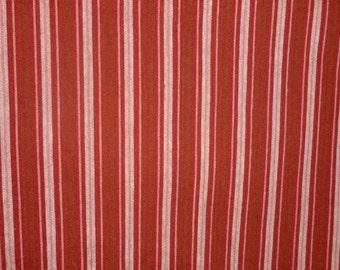 ON SALE Cranberry Stripe Fabric