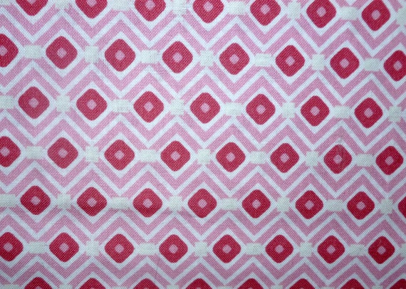 On sale pink diamonds cotton fabric by the yard by for Cloth for sale by the yard