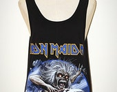 Iron Maiden Attack Plane Black Singlet Tank Top Sleeveless Art Horror Punk Rock T-Shirt Size M