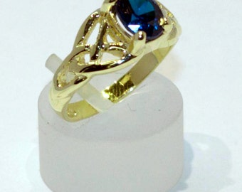 Celtic Knot ring with birthstone