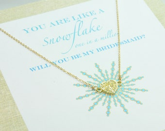 Will You Be My Bridesmaid Card, Initial Pendant, Personalized Gifts, Bridesmaid Jewelry