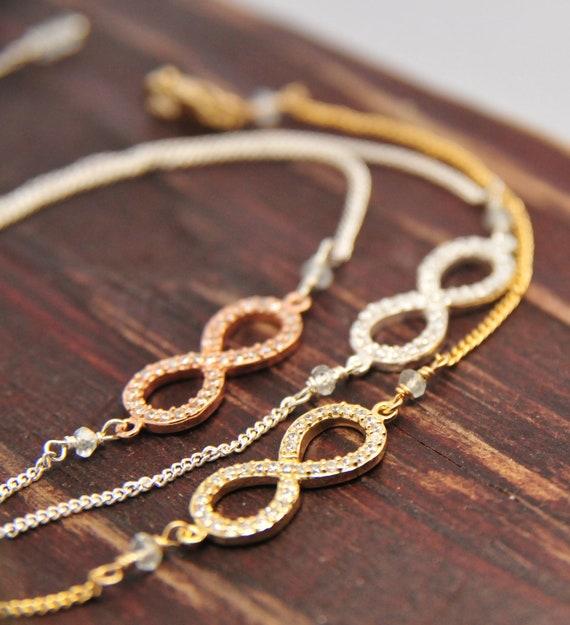 Infinity bracelets for brides