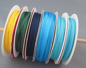 """Destash - 1/8"""" Solid Grosgrain Ribbon - Blue, Green and Yellow - RB 5294"""