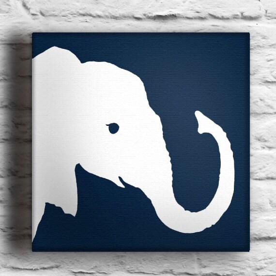 Items Similar To Baby Elephant Custom Silhouette Painting