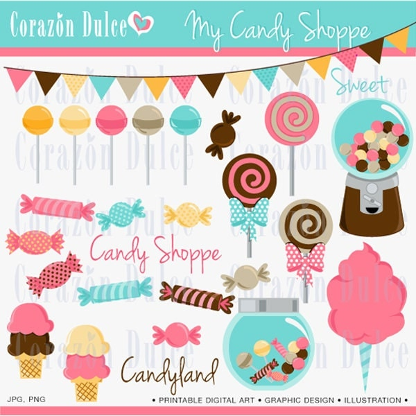 Instant Download My Candy Shoppe Soft Colors Personal And