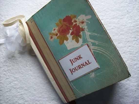 Junk Journal Altered Composition Notebook Shabby, Chunky, Distressed Pages BiCYCLE