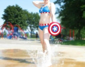 Captain Amerikini HERO-KINI by Sci Feye Candy Captain America inspired Bikini