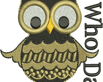 Who Dat Machine Embroidery Design
