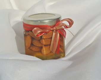 Unique Christmas Gift - Almonds In Raw Honey