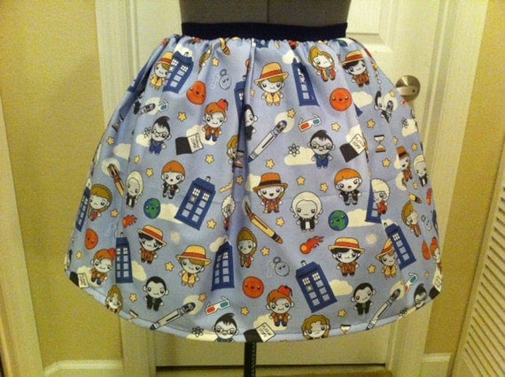 Doctor Who full skirt - Ready to be shipped