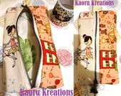 Zakka patchwork pencil case / make-up pouch - Ballet and Bear