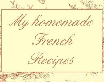 French recipes cookbook free shipping gift for him her