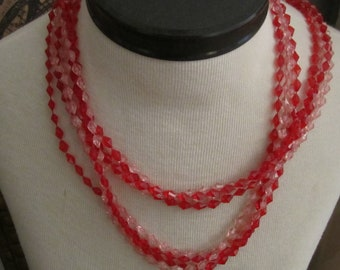 Fall Value vintage Jewelry geometric supplies pink red plastic marquise diamond pattern necklace free shipping