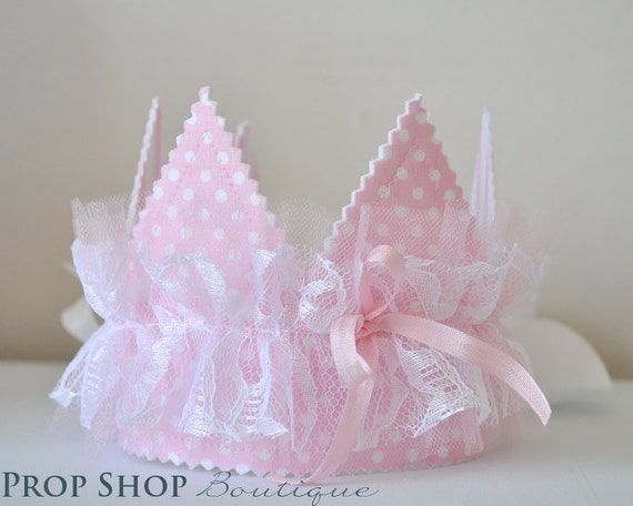 Girls Shabby Chic lace ruffle Crown