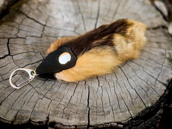 Genuine Red Fox Paw Keychain