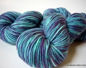 """Hand dyed Yarn, Melody DK, Superwash Merino, """"Blue Jean"""", two available"""