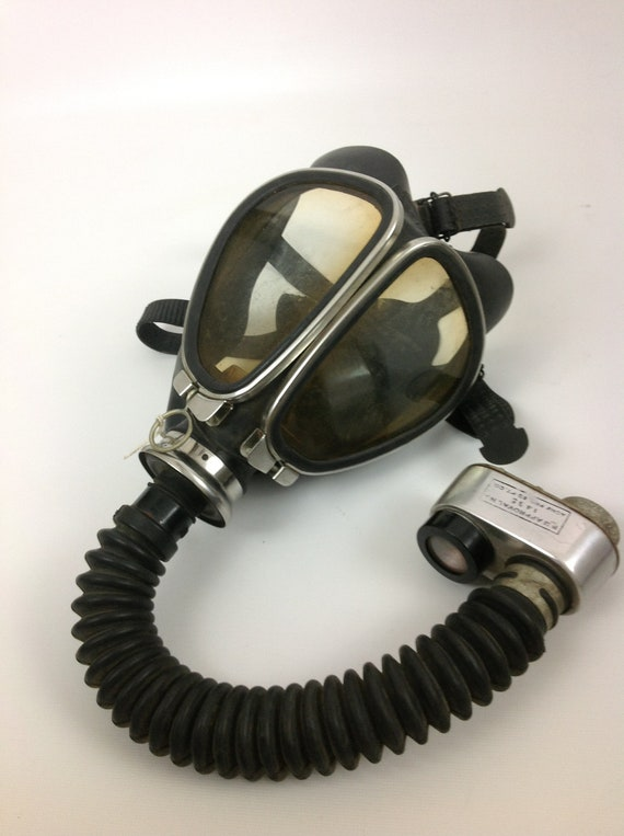 Vintage Acme Fire Department Gas Mask Safety Kit By Oddacious