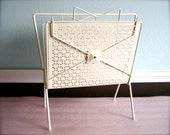 vintage magazine rack/book case/upcycled nursery decor/shabby chic///READY TO SHIP