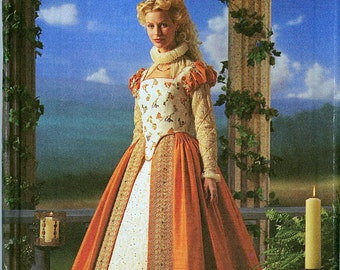 Elizabethan Costume Collection Simplicity Pattern 8881. Size 6. 8, 10, 12.