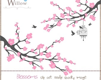 BLOSSOMS C205 - Clip art  for personal and commercial use, in Png & Jpeg files.