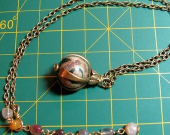 "Necklace - Composite Bead in Brass ""Claw"" (N-142)"