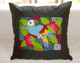 23 x 23 Black embellished pillow cover 207