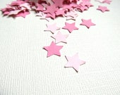 200 Punched Pink Stars, Confetti