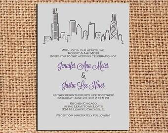 Chicago Wedding Invitation Set