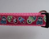 Dog Collar- Pink Nesting Matryoshka Dolls