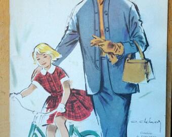 Vintage French 1954 magazine Modes & Travaux