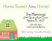 Home Sweet New Home, Change of Address Card/Moving Announcement Card, 4x6
