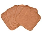 Baby Washcloths Light Brown, Cloth Wipes, Reusable Wipes, 10 Pack