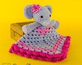 Elephant Lovey / Security Blanket - PDF Crochet Pattern - Instant Download - Blankie Baby Blanket