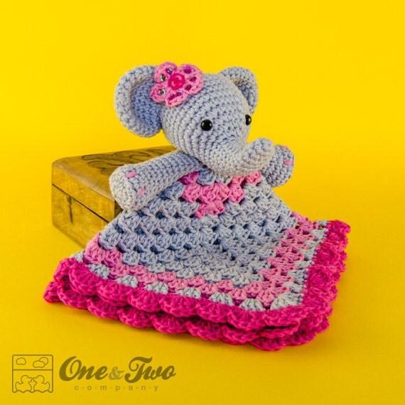 Elephant Lovey / Security Blanket PDF Crochet Pattern - photo#23