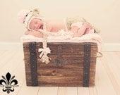 Newborn Sock Monkey Hat, Sock Monkey Set, Sock Monkey Hat And Diaper Cover Set, Sock Monkey With Tail, Newborn Photo Prop, Newborn Girl Hat