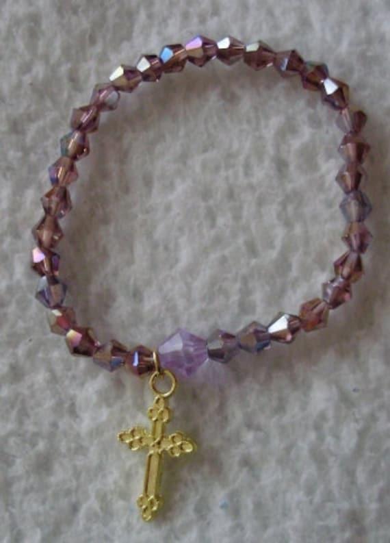 Baby Christening Baptism Swarovski Bracelet