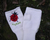 Hand knit Wool Mittens Mens and Womens (ready to ship)