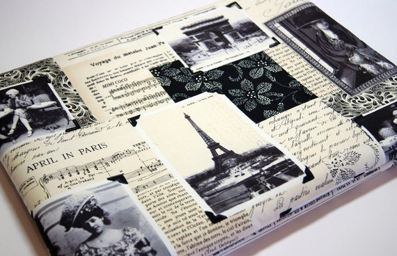 "I Miss You, Paris   15 inch  Macbook  Pro Laptop  or Any Your Laptop or Notebook up 17"" sleeve cover Made to Order case"