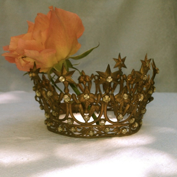 French antique Virgin Mary crown