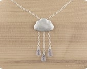 "Sterling silver, Lilac rain cloud necklace ""Lilac Rain"""