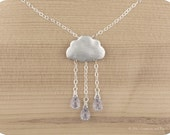 "Sterling silver, Lilac rain cloud necklace ""Lilac Rain"" - crimsonandfinch"