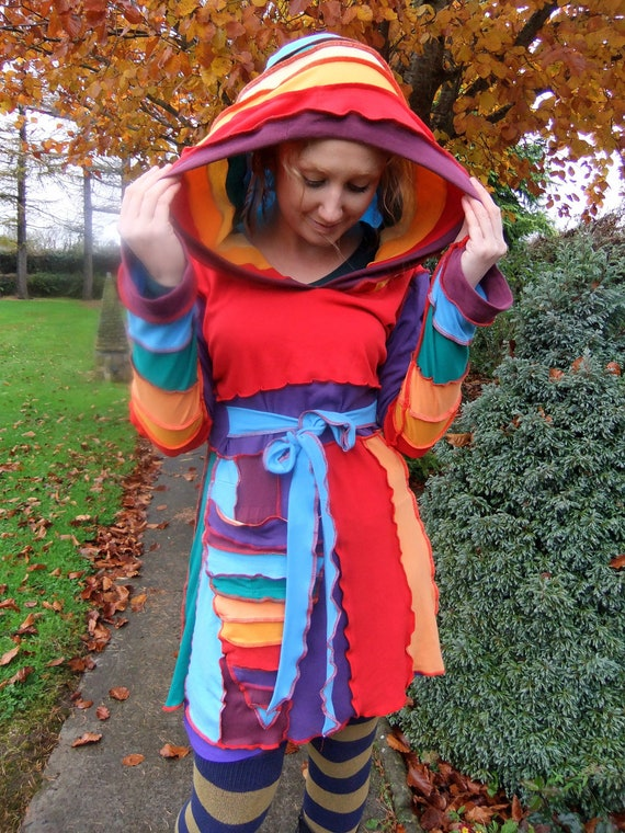 Rainbow cotton lightweight dress - Large - One Of A Kind - FOR ANNA