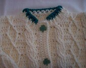 HALF PRICE SALE - Irish Aran Style Sweater Girl in Size 8