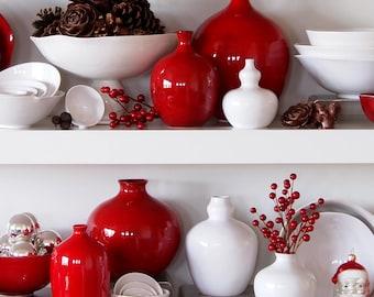 Cranberry Red Vase