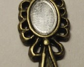 CLEARANCE Brass mirror charm Free Shipping for additional items