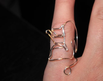 Wire Wrapped Squirrel MADE to ORDER Adjustable Ring