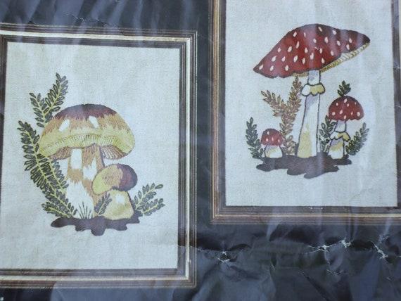 Mushroom Garden Stitchery Kit